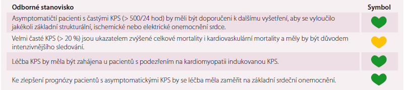 Souhlasné prohlášení k problematice asymptomatických KPS.