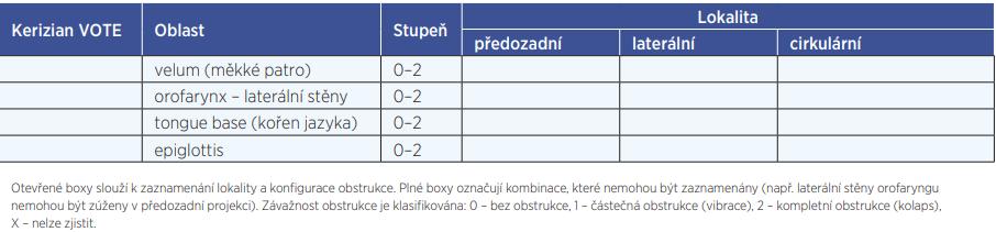 Klasifikace VOTE