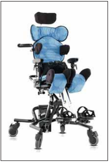 Sedací systém Leckey Mygo (firma Medicco).<br> Fig. 2. Seating system Leckey Mygo (by Medicco).