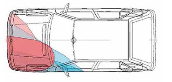 Srovnání hloubky deformací na vozidlech.<br> Fig. 11. Comparison of vehicles deformation depth.