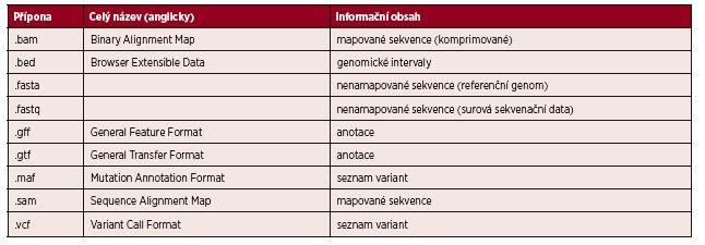 Seznam nejčastěji používaných formátů souborů