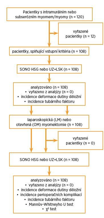 Schéma 1 Analýza souboru