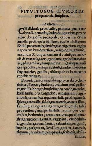 Obr. 4b. De materia medicinali, et compositione medicamentorum z roku 1556, s. 56