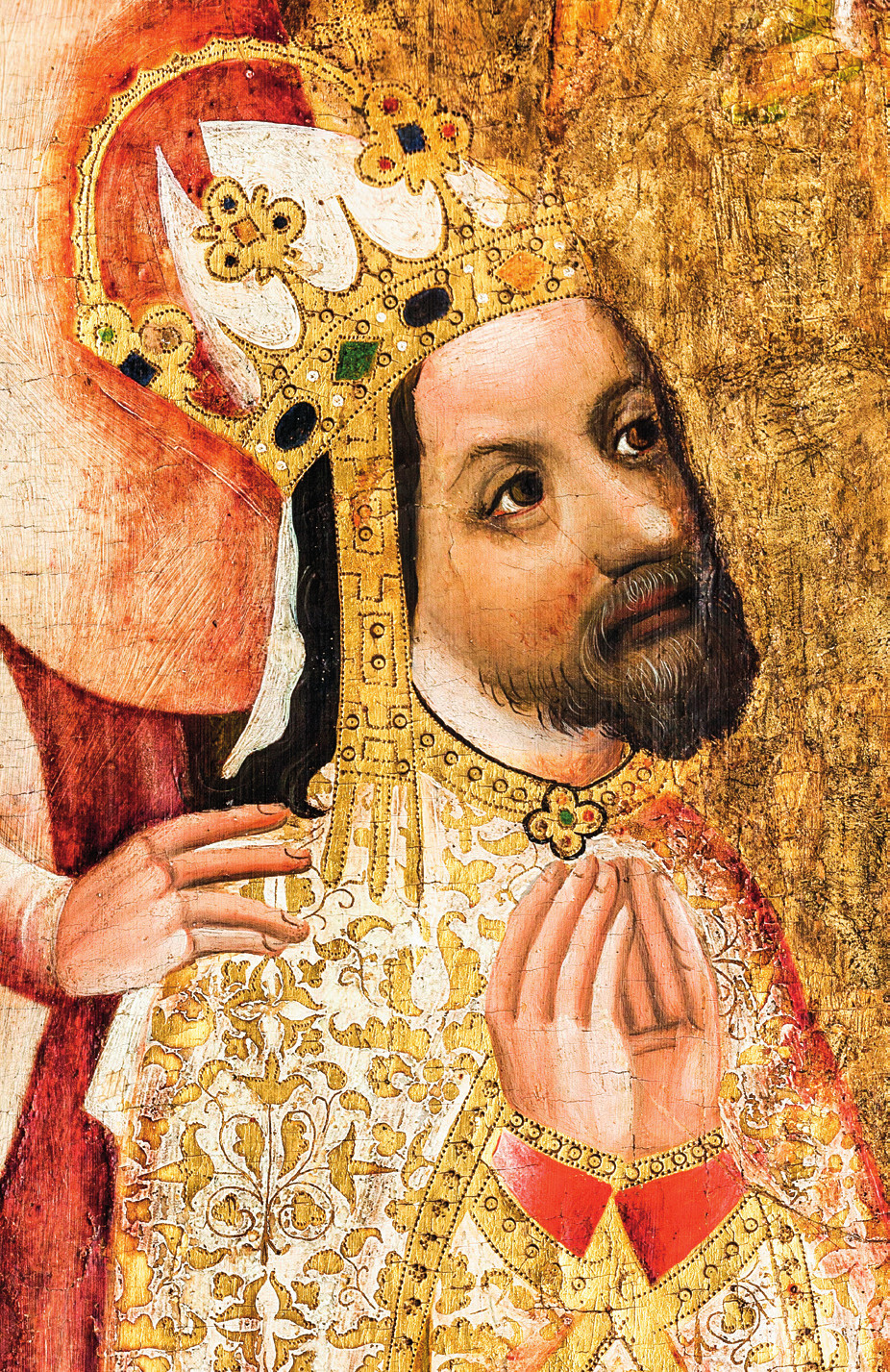 Podobizna Karla IV. na votivním obrazu Jana Očka z Vlašimi