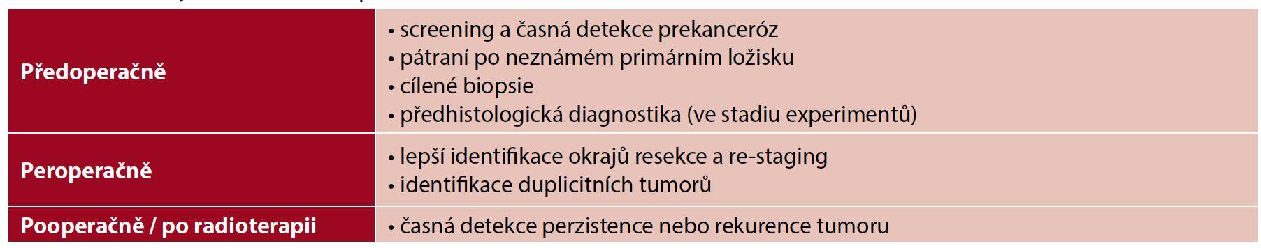 Možnosti využití NBI endoskopie