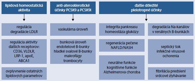 Schéma | Pleiotropné účinky PCSK9/PCSpKle9iiotropné