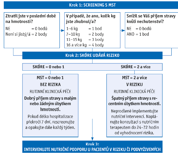 Schéma 3 Malnutrition Screening Tool dle Fergusona, 1999.