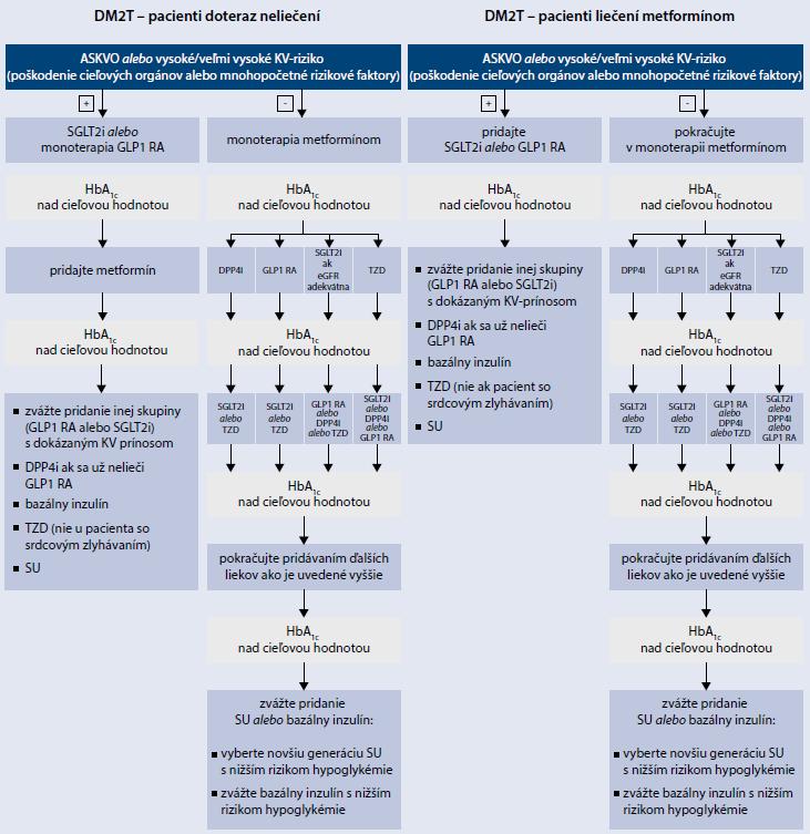 Schéma | Postup pri výmere liečby pacientov s DM2T. Upravené podľa [4]