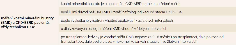 Vyšetření DXA v nefrologii