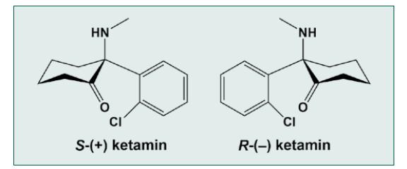 Chemická struktura ketaminu
