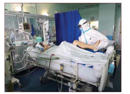 Práce fyzioterapeuta na Covidové jednotce vyžaduje mimořádné fyzické i psychické nasazení