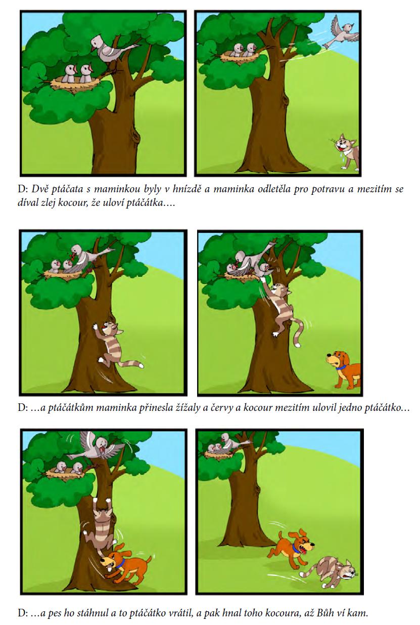 Obrázek 1–3: Ukázka reprodukce příběhu Ptáčátka2 3