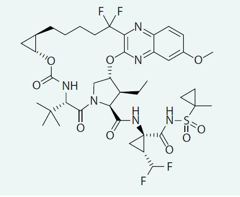 Strukturální vzorec voxilapreviru
