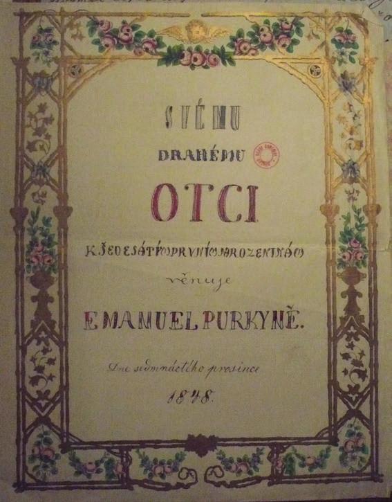 Blahopřání Emanuela Purkyně otci ze dne 17. prosince 1848