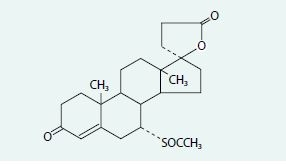 Obr. Molekula spironolaktonu