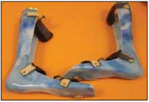 Polohovací ortéza AFO do vozík.<br>