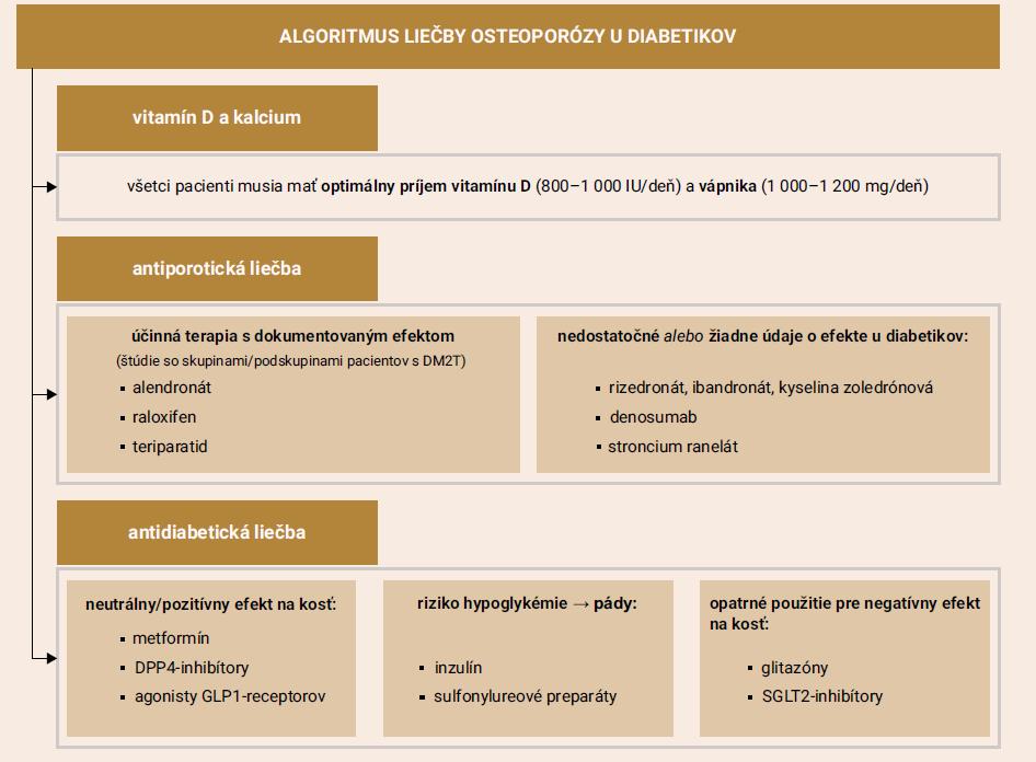 Schéma 2 | Liečba diabetika s osteoporózou