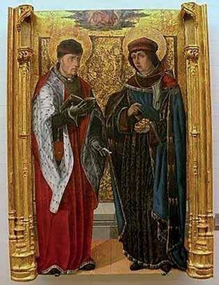 Sv. Kosmas a sv. Damián – jejich obraz byl na prvním pečetidle lékařské fakulty.