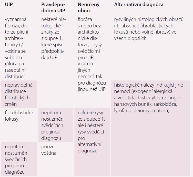 Histopatologický obraz UIP.