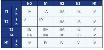 Klinické stadium NSCLC (TNM klasifikace z roku 2009)